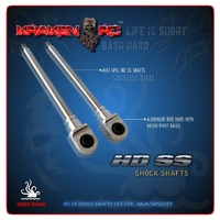 Kraken-RC HD SS Stainless Steel Shock Shaft Set - FRONT