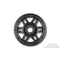 Pro-line Split Six Bead-Loc Front Wheels  for HPI Baja 5T/5SC & Losi 5ive/DBXL/Vekta.5 (Black w/Black Beadlocks)