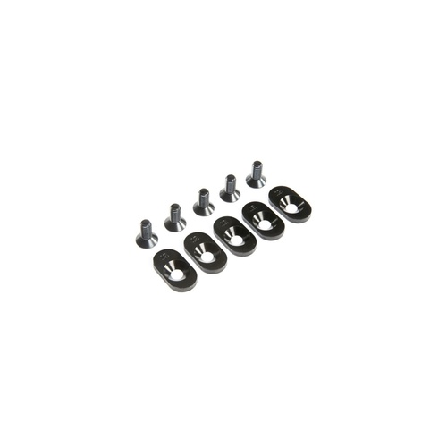 Engine Mount Insert and Screws, Black, 19T, 5ive-T 2.0