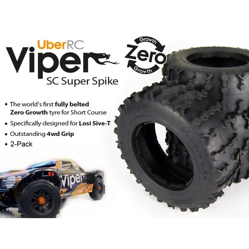 Uber RC Viper Super Spike Tyre for Losi 5ive-T/DBXL